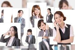 Gente di affari della parete Fotografia Stock Libera da Diritti