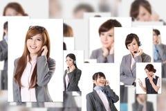 Gente di affari della parete Immagini Stock