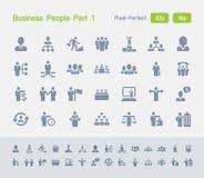 Gente di affari della parte 1 | Icone del granito Fotografie Stock