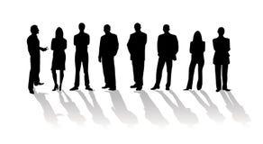 Gente di affari della siluetta Fotografie Stock
