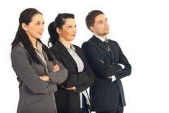 Gente di affari della squadra che osserva via Immagini Stock Libere da Diritti
