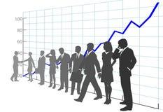 Gente di affari della squadra di profitto del diagramma di sviluppo Immagini Stock Libere da Diritti