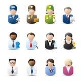 Gente di affari delle icone Fotografia Stock