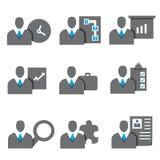 Gente di affari delle icone Immagini Stock