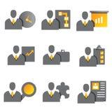 Gente di affari delle icone Fotografie Stock Libere da Diritti