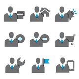 Gente di affari delle icone Immagine Stock