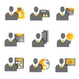 Gente di affari delle icone Fotografia Stock Libera da Diritti
