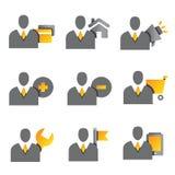 Gente di affari delle icone Immagine Stock Libera da Diritti