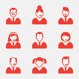 Gente di affari delle icone dell'avatar Illustrazione di vettore Icona del segno dell'utente Simbolo della persona Immagini Stock