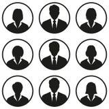 Gente di affari delle icone dell'avatar su fondo bianco immagine stock libera da diritti