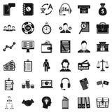 Gente di affari delle icone messe, stile semplice Fotografie Stock