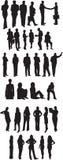 Gente di affari delle siluette Fotografia Stock Libera da Diritti