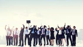 Gente di affari di celebrazione di concetto corporativo di successo Fotografie Stock Libere da Diritti