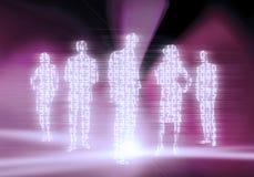 Gente di affari di codice binario Fotografie Stock Libere da Diritti