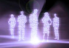 Gente di affari di codice binario Immagini Stock Libere da Diritti