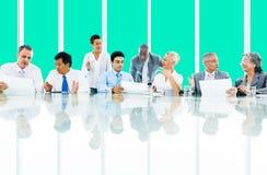 Gente di affari di collaborazione Team Teamwork Professional Concept Immagine Stock
