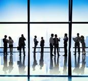 Gente di affari di comunicazione di concetto dell'ufficio corporativo Fotografia Stock Libera da Diritti