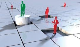Gente di affari di concetto 3d sui blocchi 2 Fotografia Stock Libera da Diritti