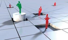 Gente di affari di concetto 3d sui blocchi 4 Immagine Stock