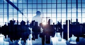 Gente di affari di conferenza di seminario Team Teamwork Concept di riunione Immagine Stock