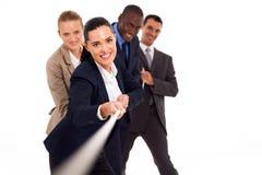 Gente di affari di conflitto Immagini Stock Libere da Diritti