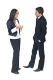 Gente di affari di conversazione Fotografie Stock Libere da Diritti