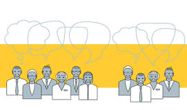 Gente di affari di conversazione Illustrazione di concetto Fotografie Stock