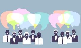 Gente di affari di conversazione Illustrazione di concetto Immagine Stock