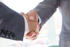Gente di affari di handshake Fotografia Stock
