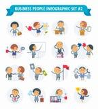 Gente di affari di Infographic #2 stabilito Immagini Stock Libere da Diritti