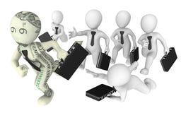 gente di affari di inseguimento 3d a successo illustrazione di stock