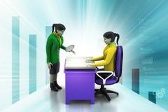 gente di affari di lavoro 3d Immagine Stock Libera da Diritti
