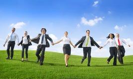 Gente di affari di lavoro di squadra di riuscito di libertà concetto di aspirazione Immagini Stock Libere da Diritti