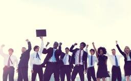 Gente di affari di New York di concetto di celebrazione Fotografia Stock Libera da Diritti