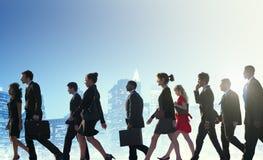 Gente di affari di paesaggio urbano Team Concept del pendolare Fotografia Stock