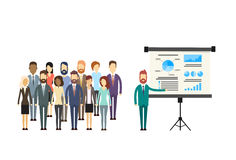 Gente di affari di presentazione Flip Chart Finance del gruppo Immagine Stock Libera da Diritti
