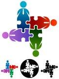 Gente di affari di puzzle del gruppo Immagini Stock