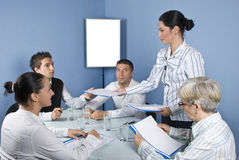 Gente di affari di riunione Fotografia Stock