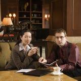 Gente di affari di riunione. Immagini Stock Libere da Diritti