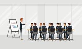 Gente di affari di riunione di lavoro di squadra del gruppo e concetto di lampo di genio presentazione di affari del gruppo sul g Fotografie Stock