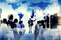 Gente di affari di seminario di conferenza di concetto globale di riunione immagini stock
