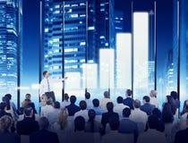 Gente di affari di seminario di conferenza di riunione di concetto di addestramento Fotografie Stock