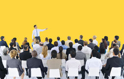 Gente di affari di seminario di conferenza di riunione di concetto di presentazione Fotografia Stock Libera da Diritti