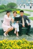 Gente di affari di svago Fotografia Stock