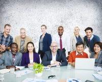 Gente di affari di Team Connection Togetherness Concept Immagine Stock