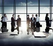 Gente di affari di Team Discussion Meeting Concept corporativo Fotografia Stock