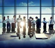 Gente di affari di Team Discussion Office Concept corporativo Fotografia Stock