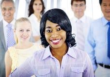 Gente di affari di Team Success Cheerful Concept immagine stock libera da diritti