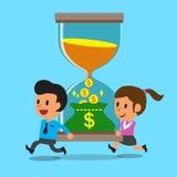 Gente di affari di tempo del convertito di concetto di affari a soldi royalty illustrazione gratis