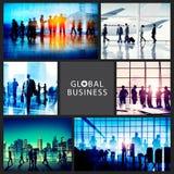 Gente di affari di viaggio di concetto corporativo della raccolta Immagini Stock Libere da Diritti